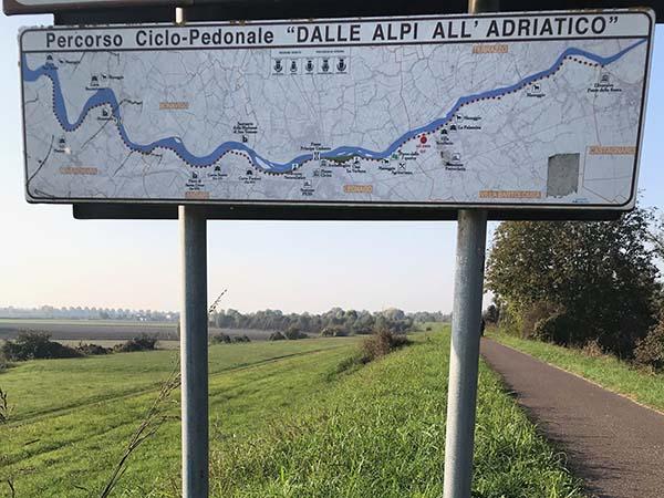 pista ciclabile lungo Adige