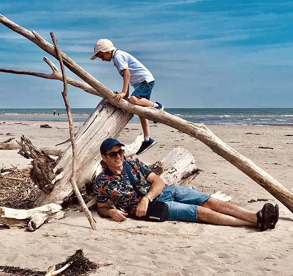 famiglia Porto Caleri spiaggia