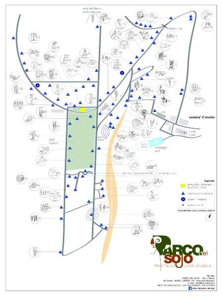 mappa del parco del Sojo